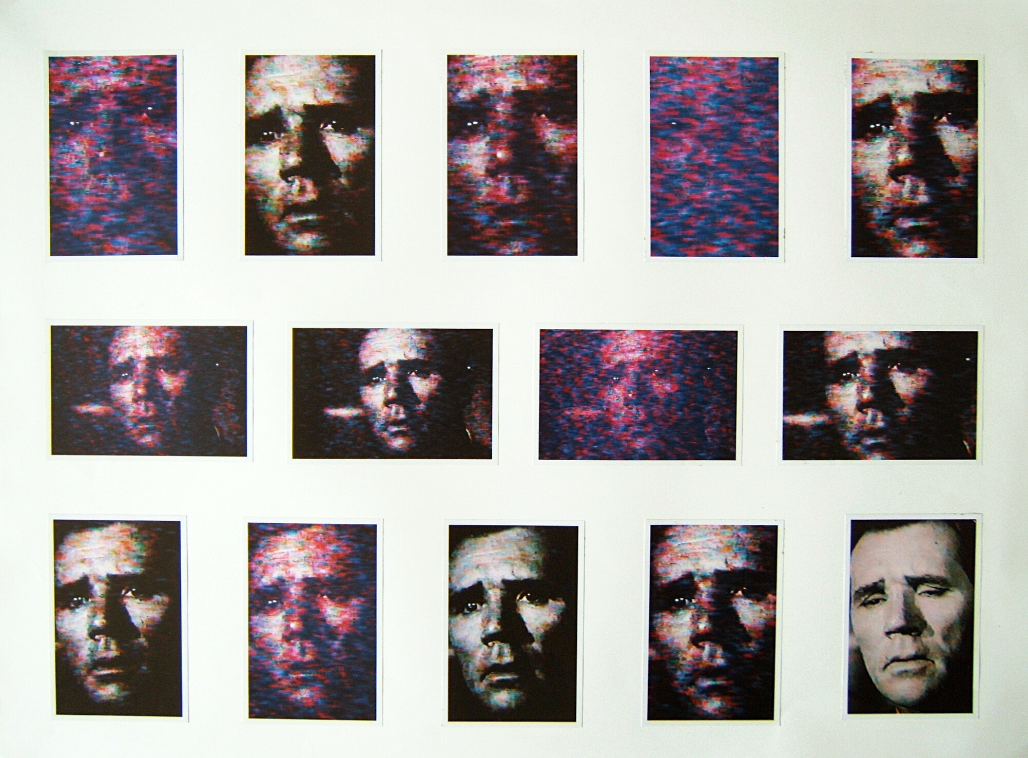 A man's life has become a movie , 2004 Photographs on paper 21 x 29 inches