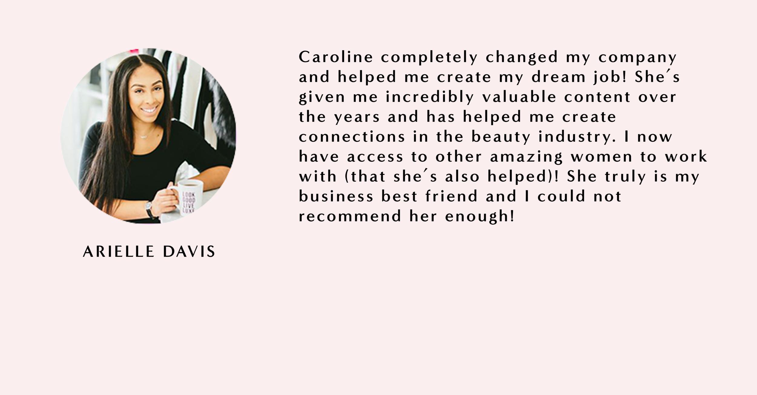 All The Love Website Template - Arielle Davis.png