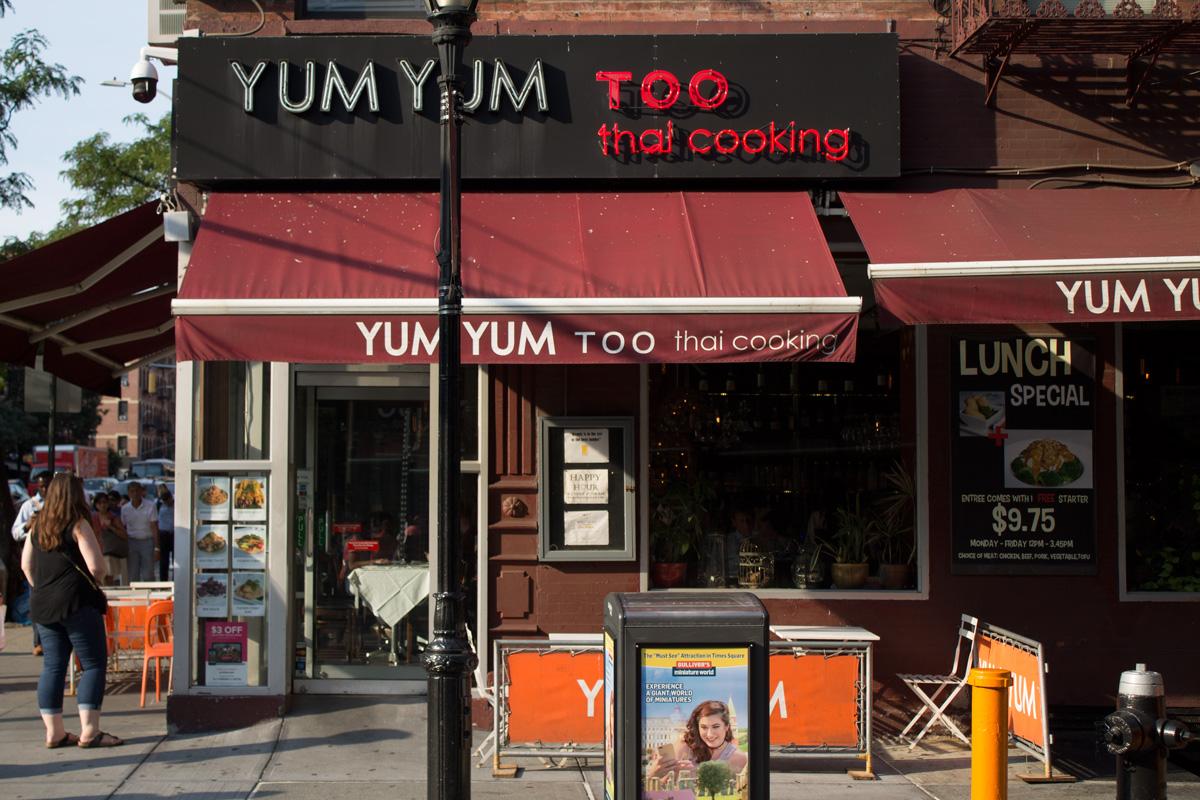 Yum Yum Too restaurant corner