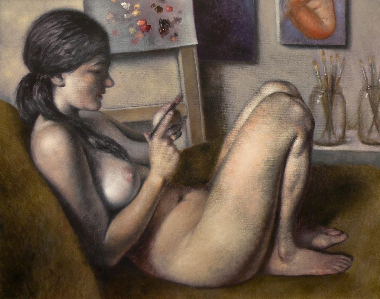 1. MAIDMAN_Leah-Checking-Her-Cell-Phone-2_24x30.JPG