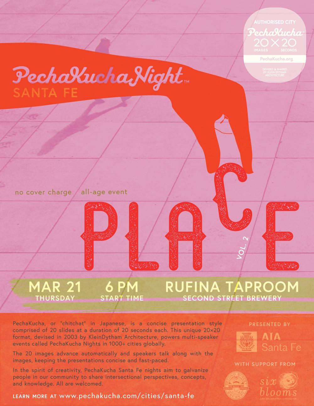 PechaKucha Santa Fe Poster Vol.2 Place