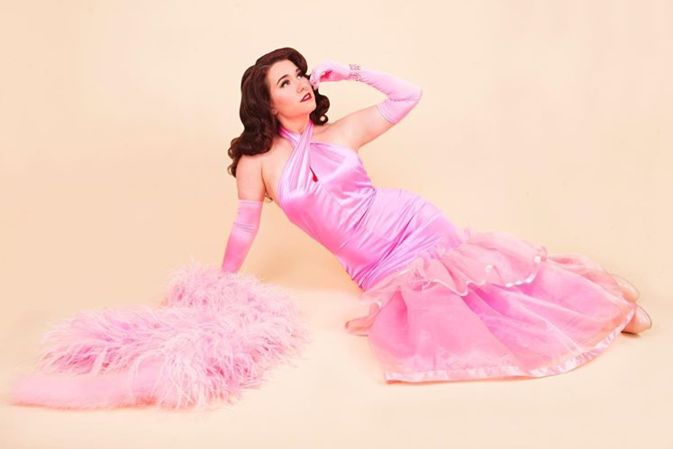 Satin Gown w/ Tulle Skirt