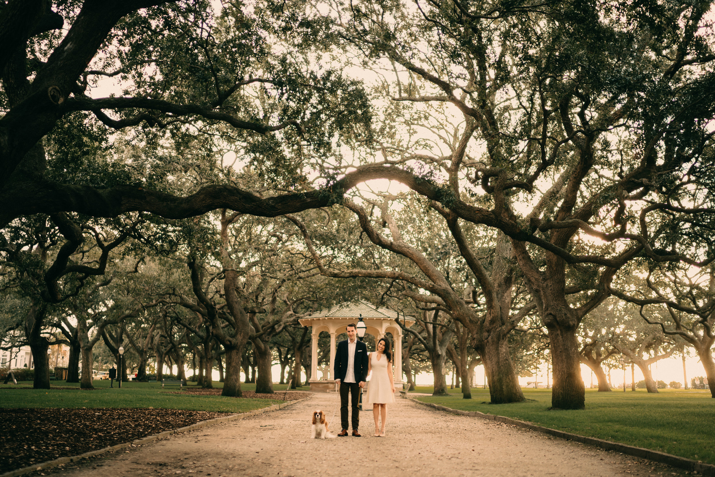 charleston south carolina engagement shoot - We traveled with Angela, Griffin, and of course their dog Cooper, to Charleston, South Carolina for their engagement photoshoot.