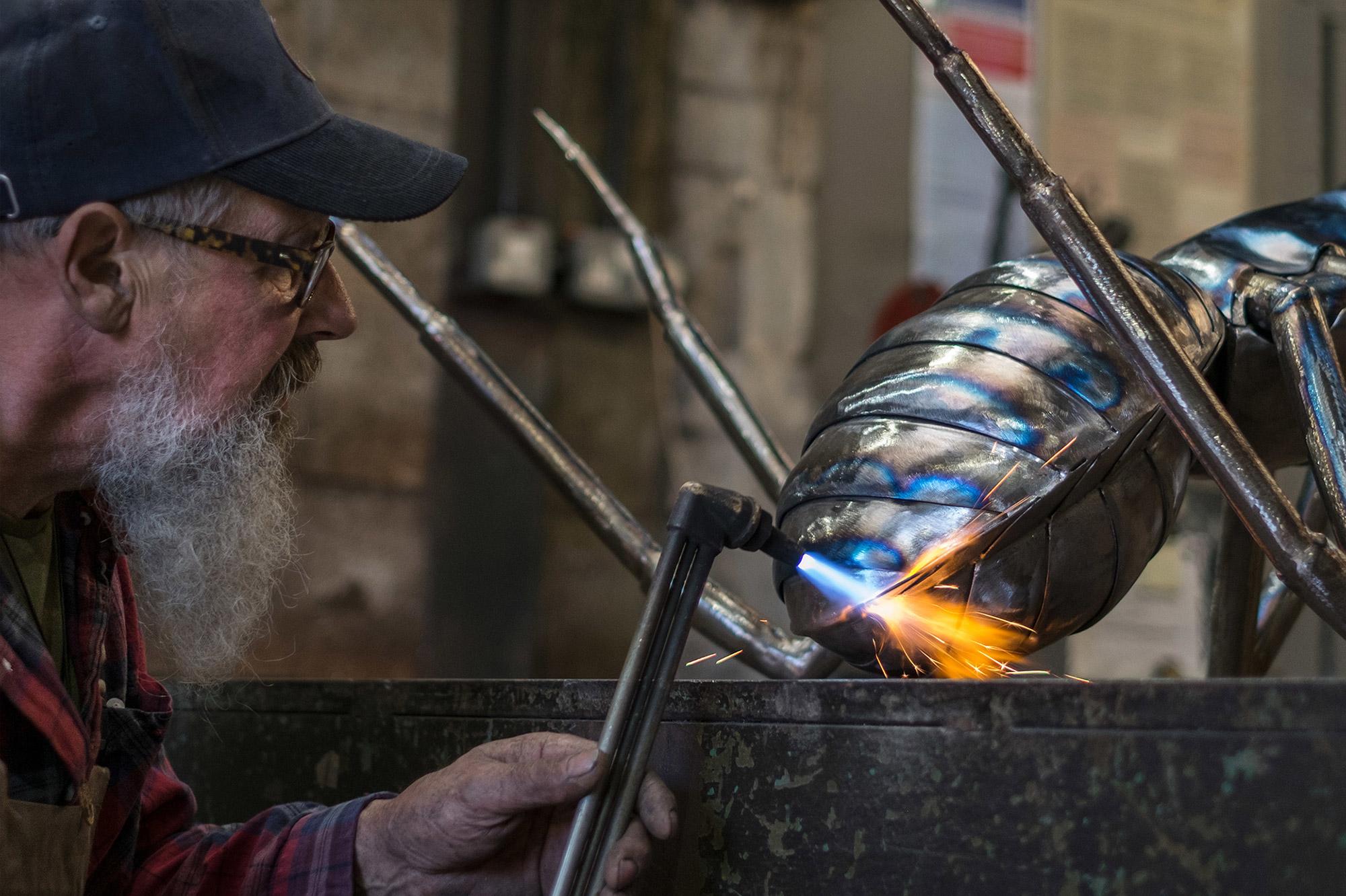 Thrussels Metal Sculpture