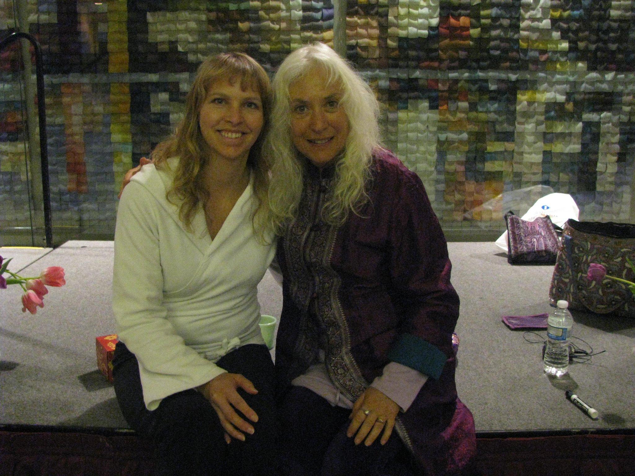 Carolyn studying with Nischala Joy Devi