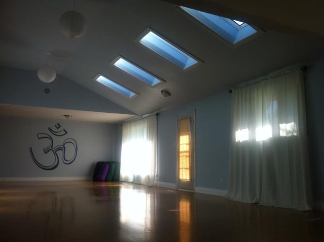 Bright and open studio space.