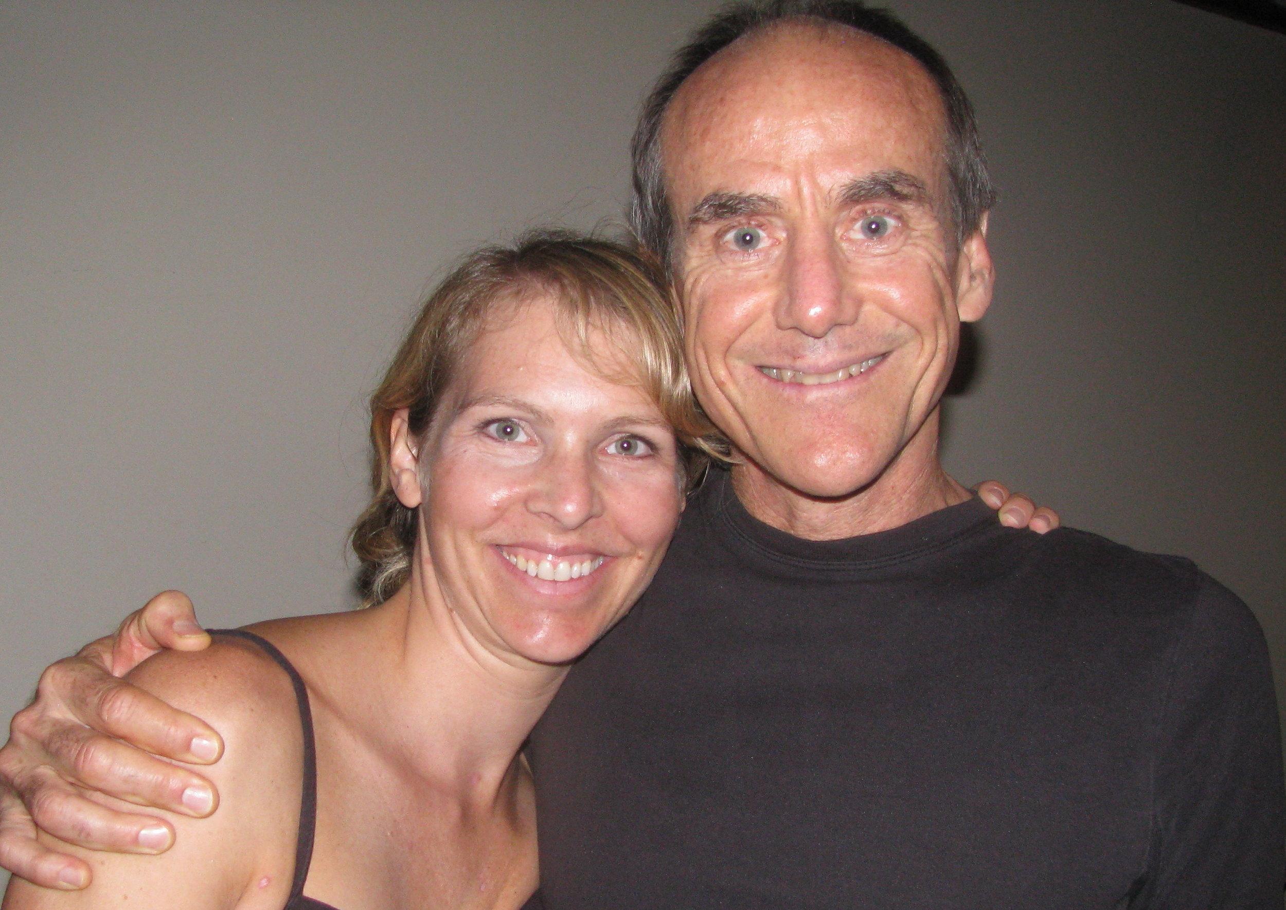 Carolyn Weatherson studying Ashtanga Yoga with David Swenson