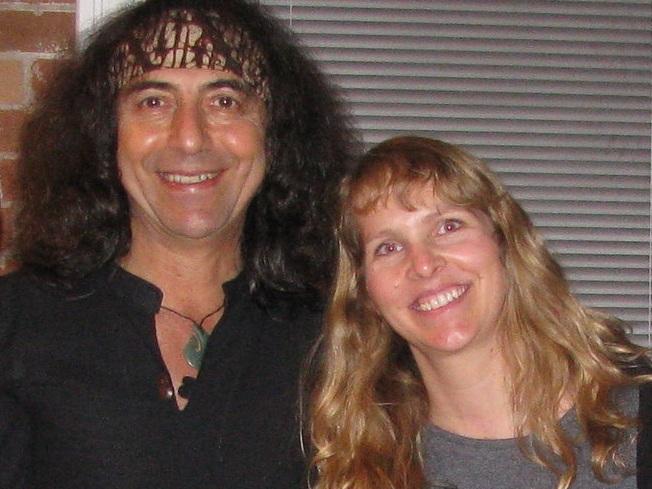 Carolyn Weatherson studying advanced yoga and pranayama with Danny Paradise