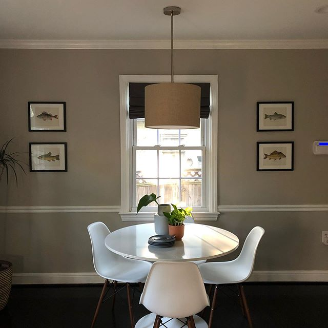 Had fun staging this really cute cape cod in Silver Spring last week. I got the vintage fish prints off of eBay and put them in simple frames and voila!, a unique (and cost effective) focal point. #dcdecorator #interiors #airbnbdecorator