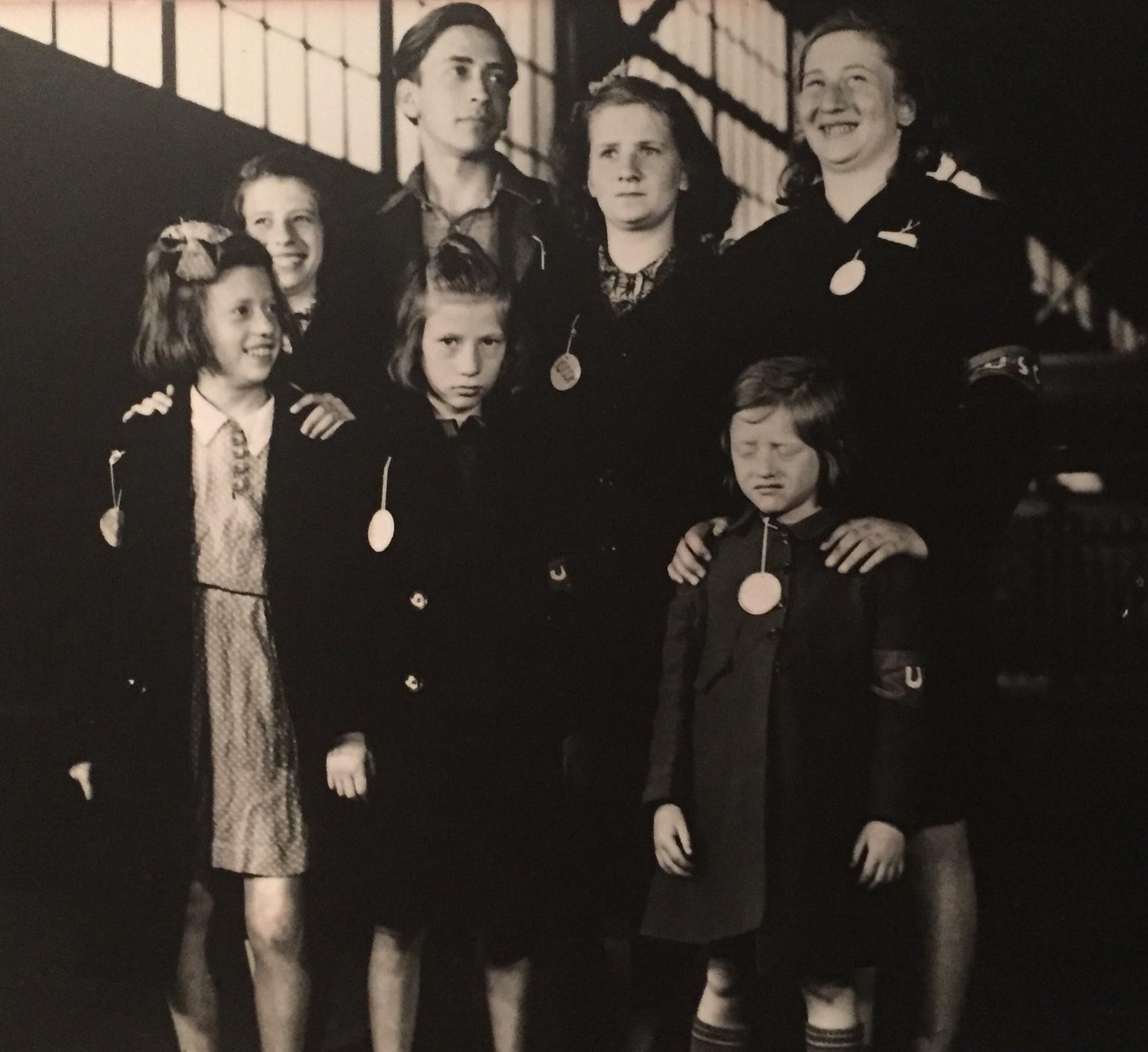 The hidden children… - Alfons, Senta, Ruth, Gertrude, Renee, Judith, Bela (Ginger), 1946