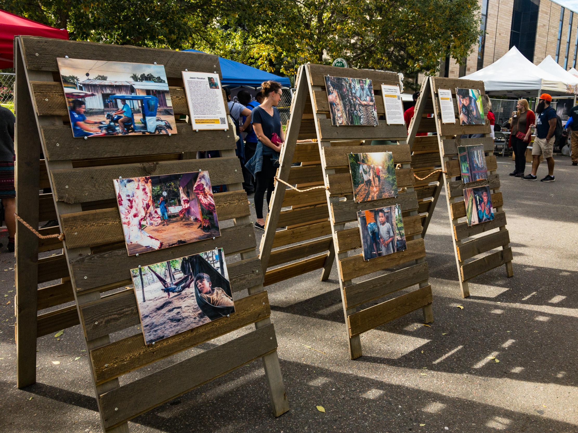 A pop-up exhibition at Boulder's Adventure Film Festival featuring work for Upper Amazon Conservancy on indigenous rights and protected areas in the Amazon.