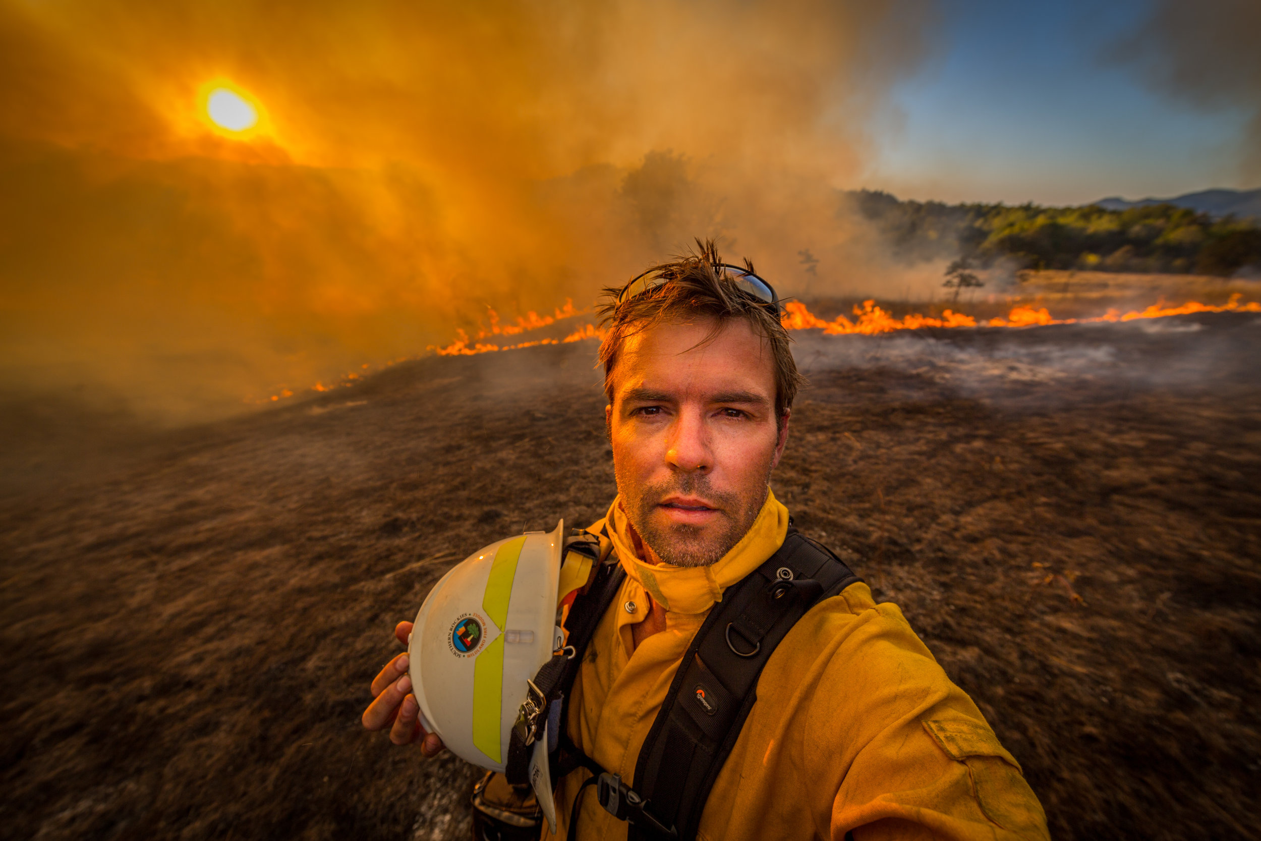 For a cover story on wildfire ecology for The Nature Conservancy I trained for and received my Wildland Firefighter Red Card and embedded with a fire crew.