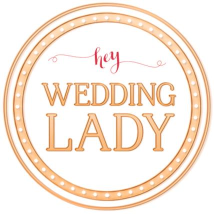 hey wedding lady badge