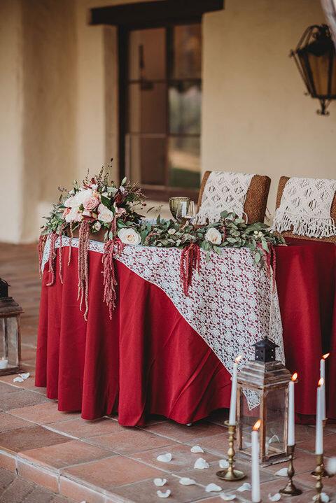 boho eclectic ranch sweetheart table
