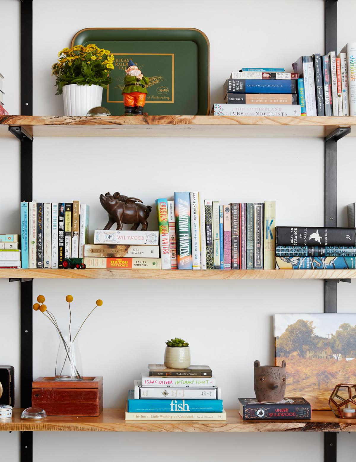 West Loop Project – Office Shelf Styling