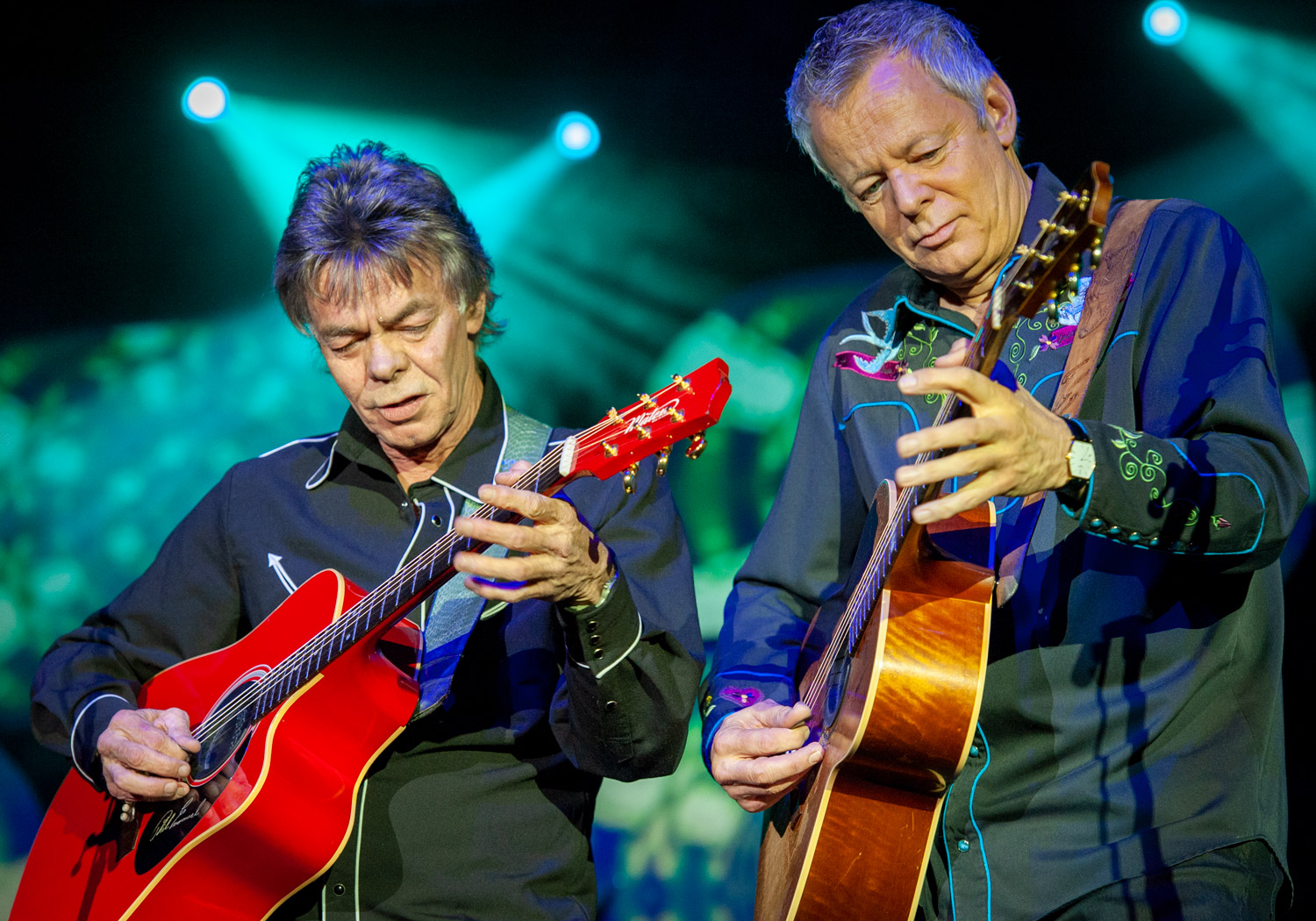 Phil & Tommy Emmanuel on their 50th Anniversary tour. Photograph taken in Adelaide, South Australia.