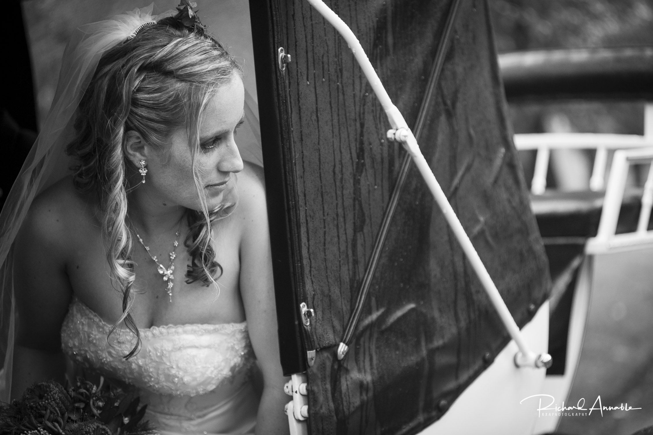 Julie arrives at her wedding