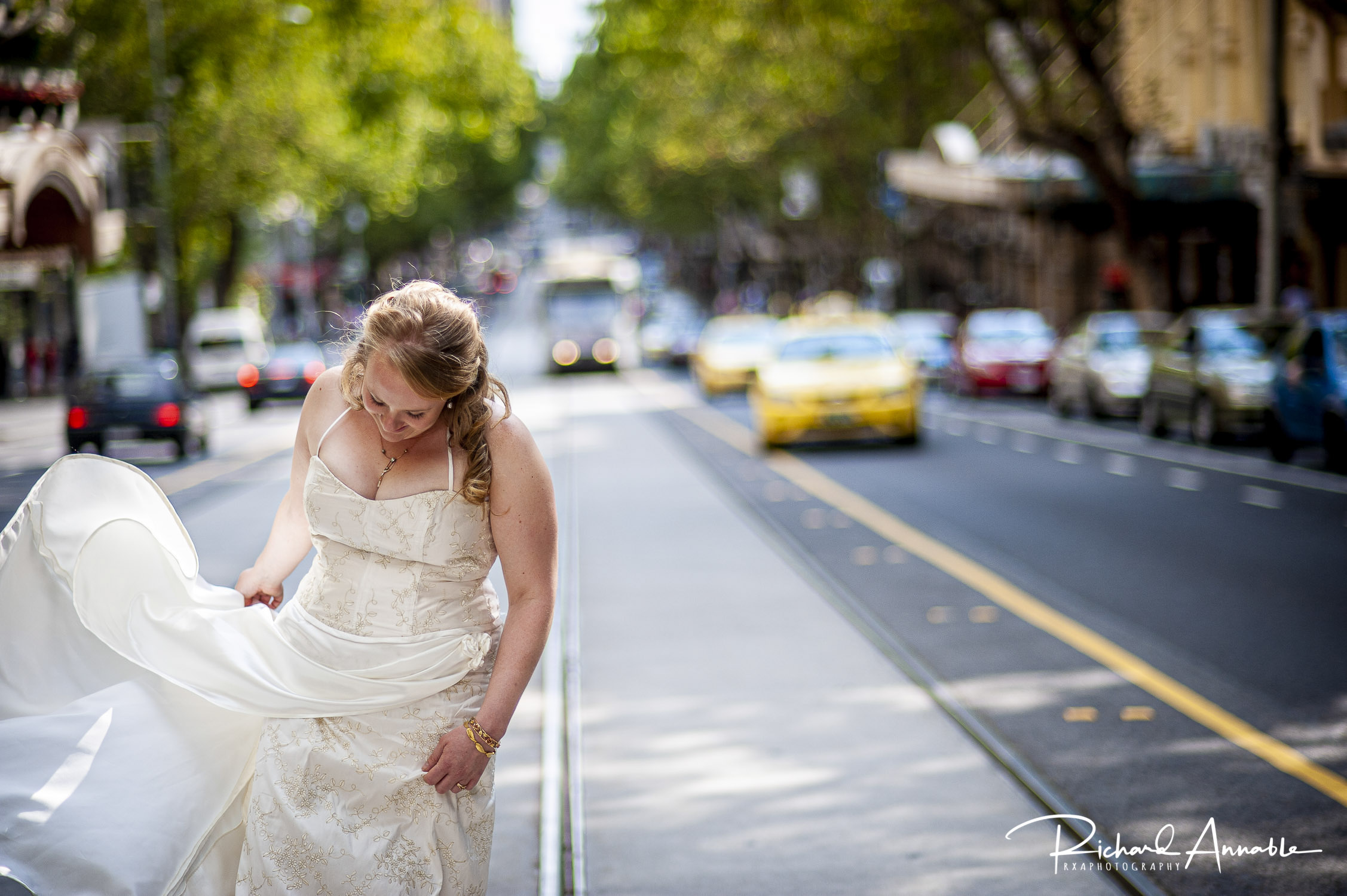 Breanna literally stopped traffic for this photograph on Collins Street in Melbourne.