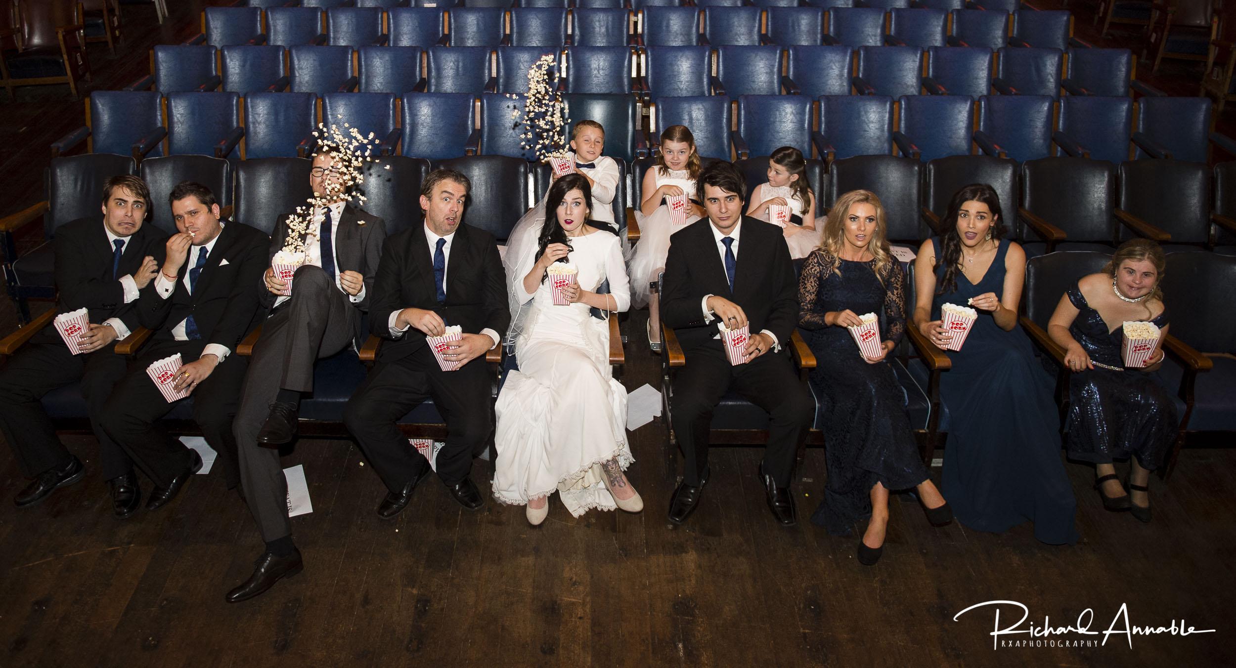 Aimée & Scott's Astor Theatre wedding