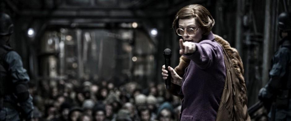 Tilda Swinton as the villainous Minister Mason.