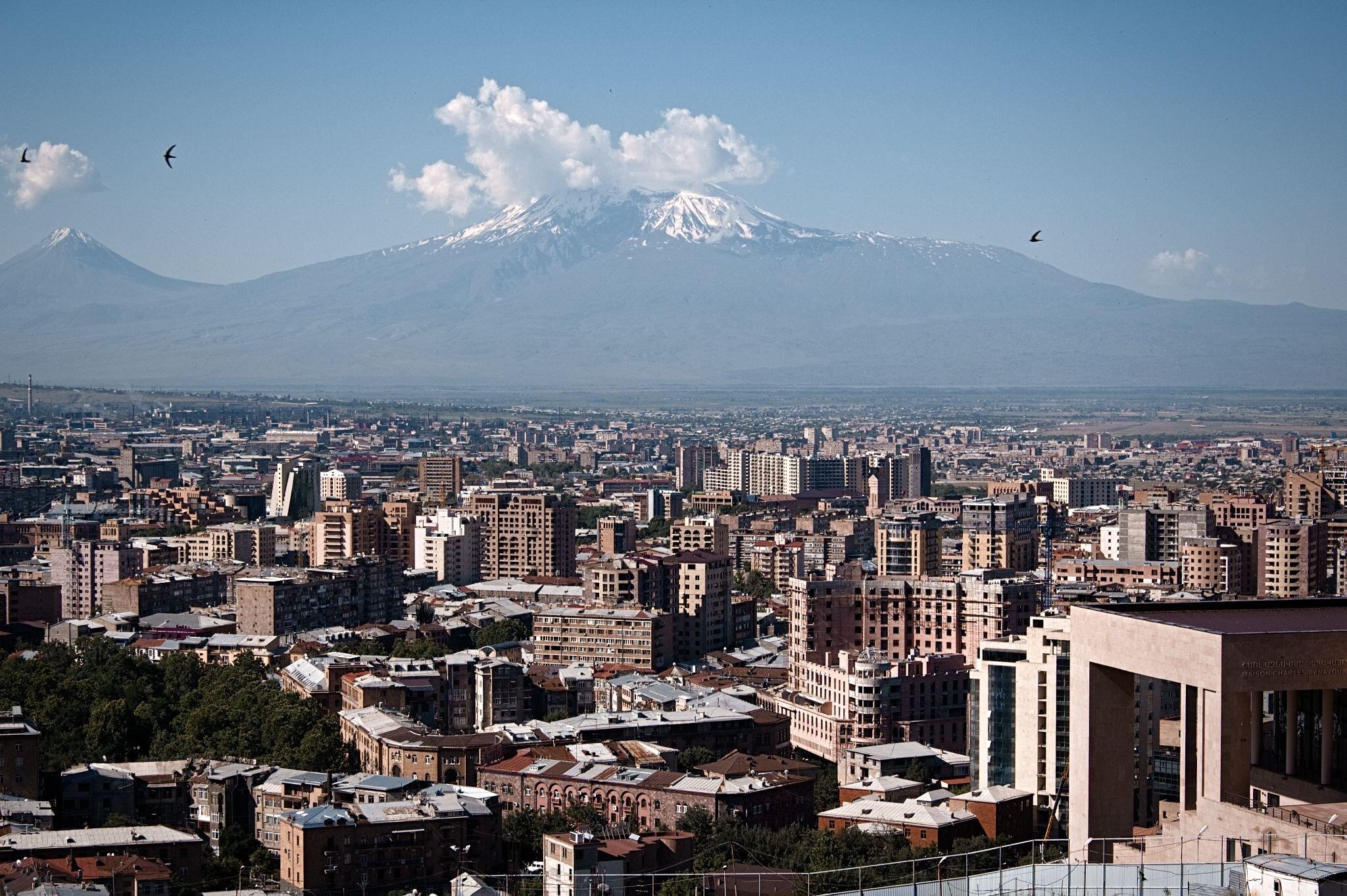 Stadtansicht von Jerewan