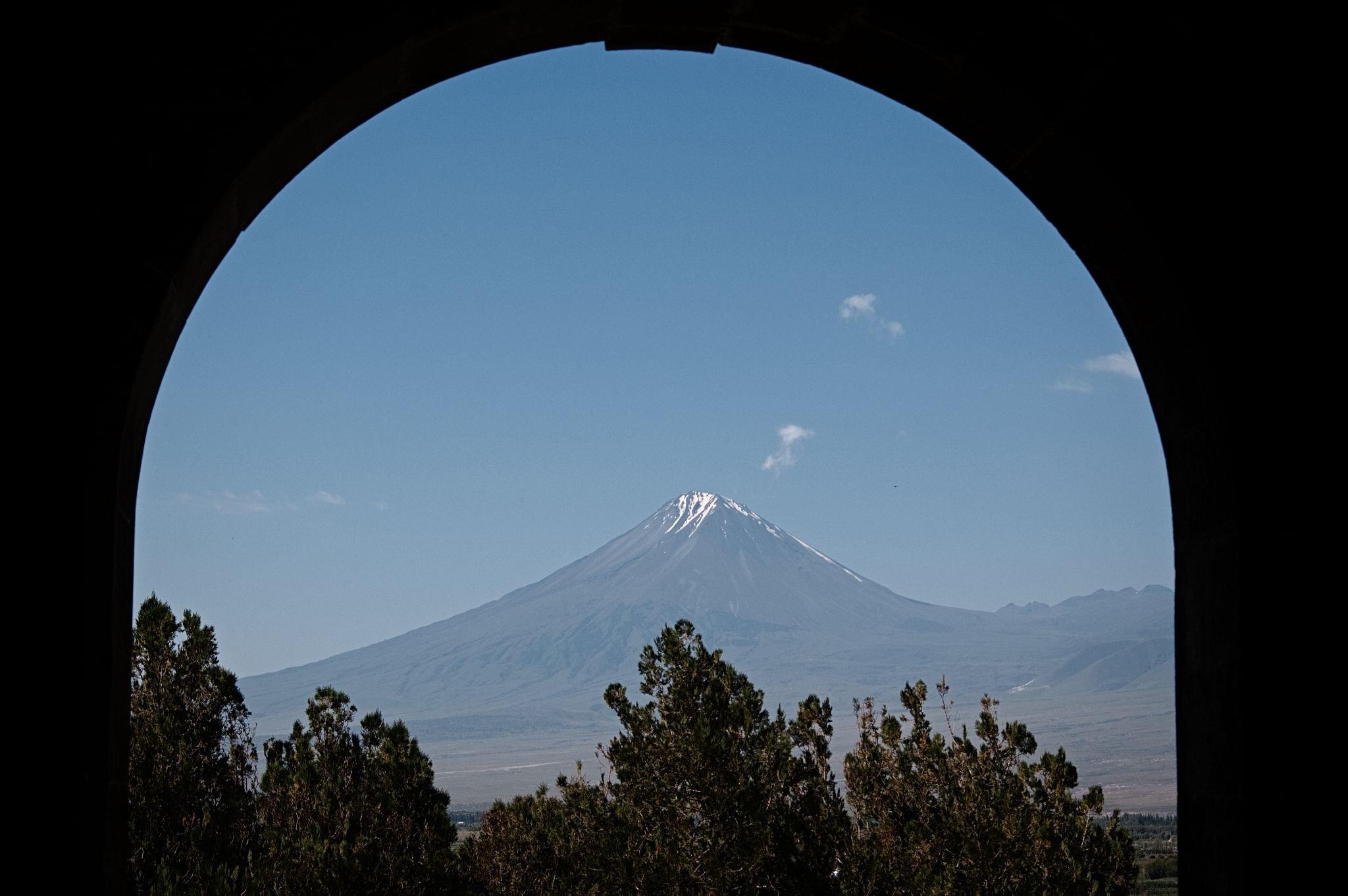 Berg Ararat im Torbogen