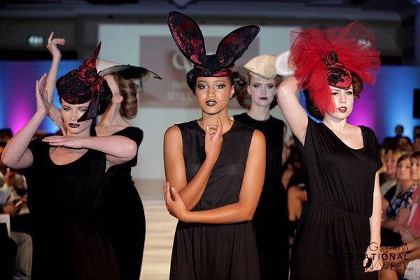 Jayne Elizabeth Millinery showcasing 'Fragmentation Collection' Birmingham Fashion Week.jpg
