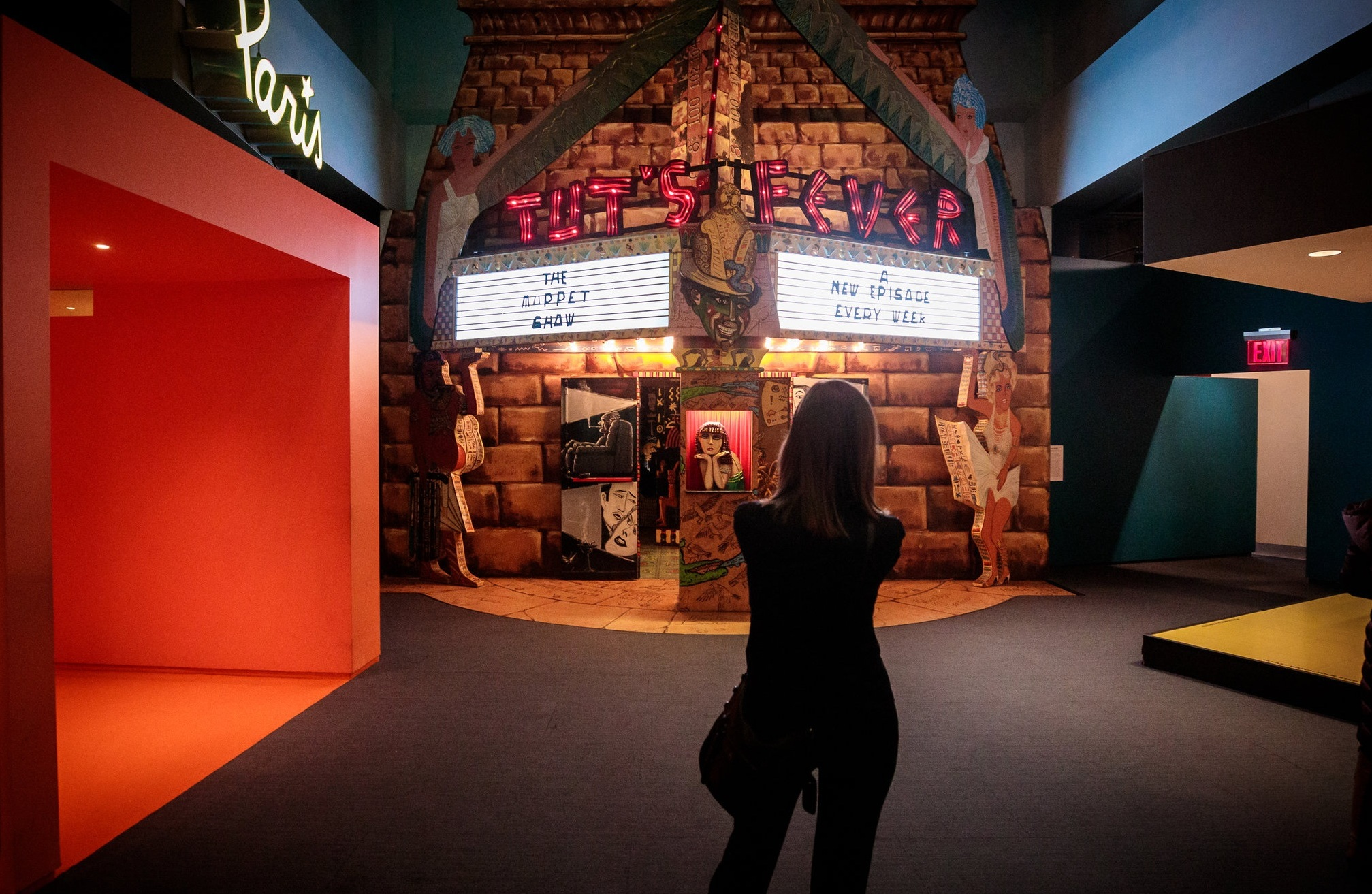 Visitor snapping a photo in the Behind The Screen exhibition. Photo: Sachyn Mital