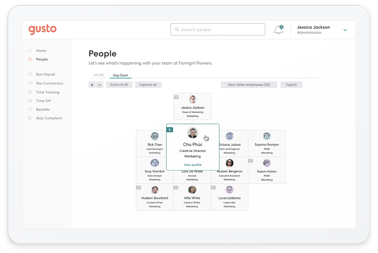 HR built for the way you work. - It's time to stop managing your team with email and spreadsheets—modern HR is finally here. And because HR with Gusto is integrated with payroll, it's that much easier to stay compliant and keep all of your employee data in sync.