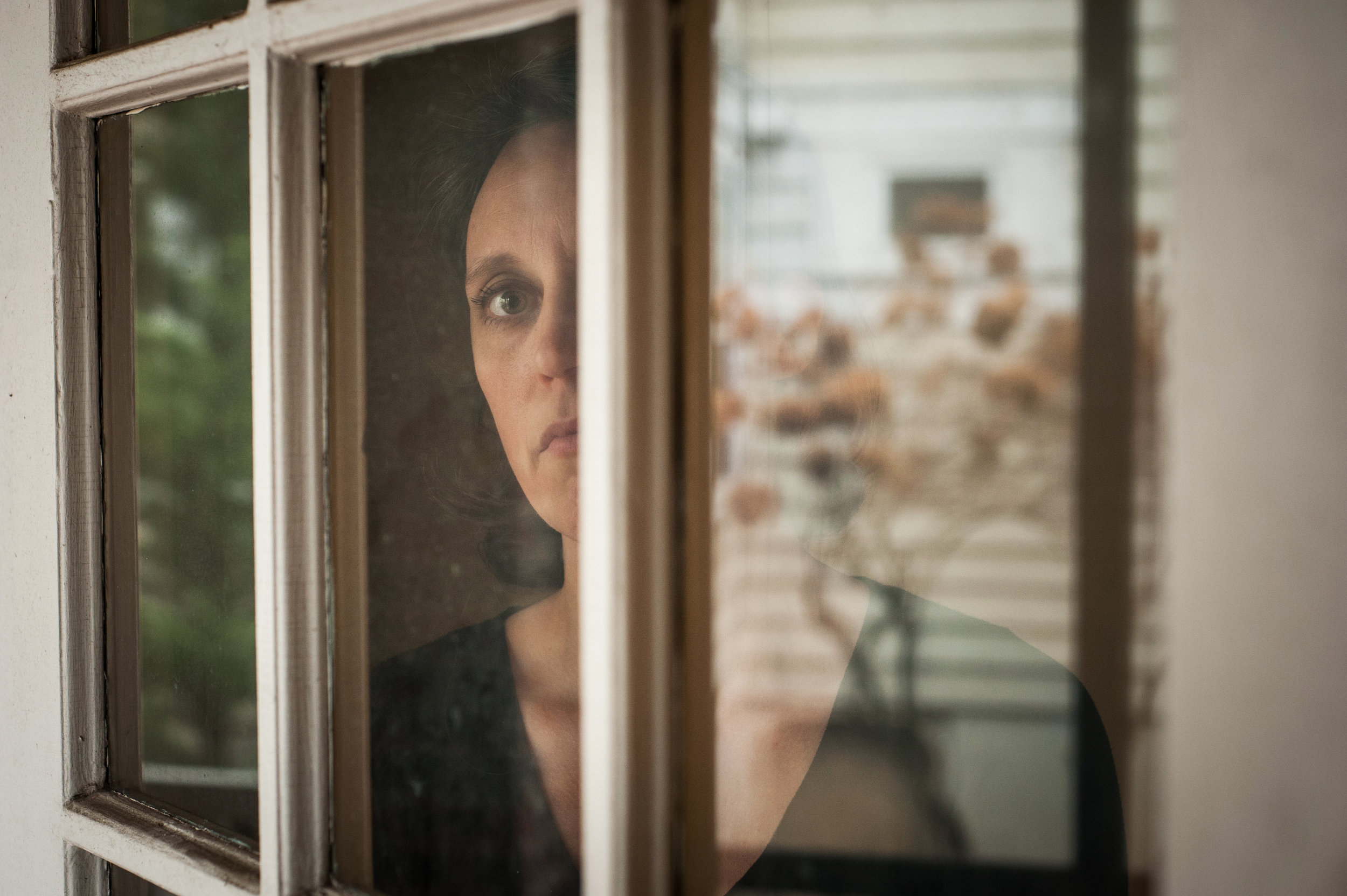 Sara Asselin at her home in New Jersey February 2018. Asselin said voice coach Peter Rofé masturbated in 2004 while she read a script about chocolate pudding. She is one of at least 16 women to come forward with accounts of sexual misconduct by Rofé. Photographed for CNN