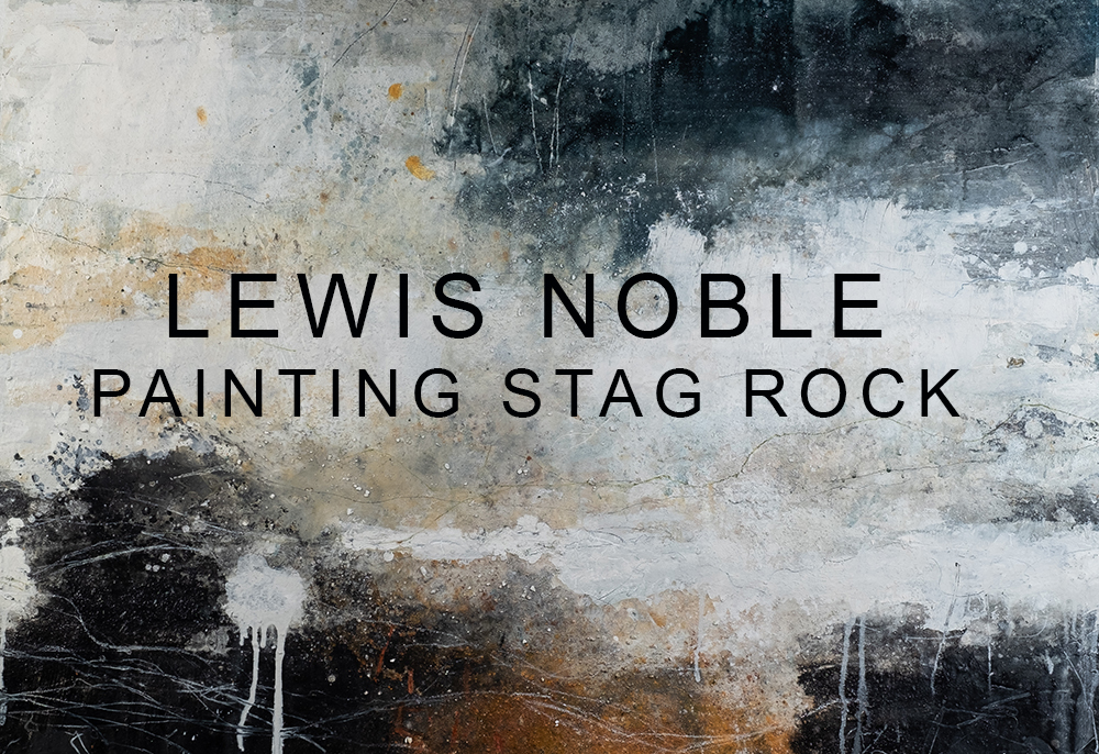 LEWIS NOBLE - PAINTING AT STAG ROCK - A sketching session by the sea during a workshop in Northumberland July 2019