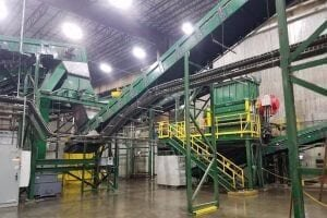 The Philadelphia MSW and recyclables sorting facility operated by Continuus Energy.