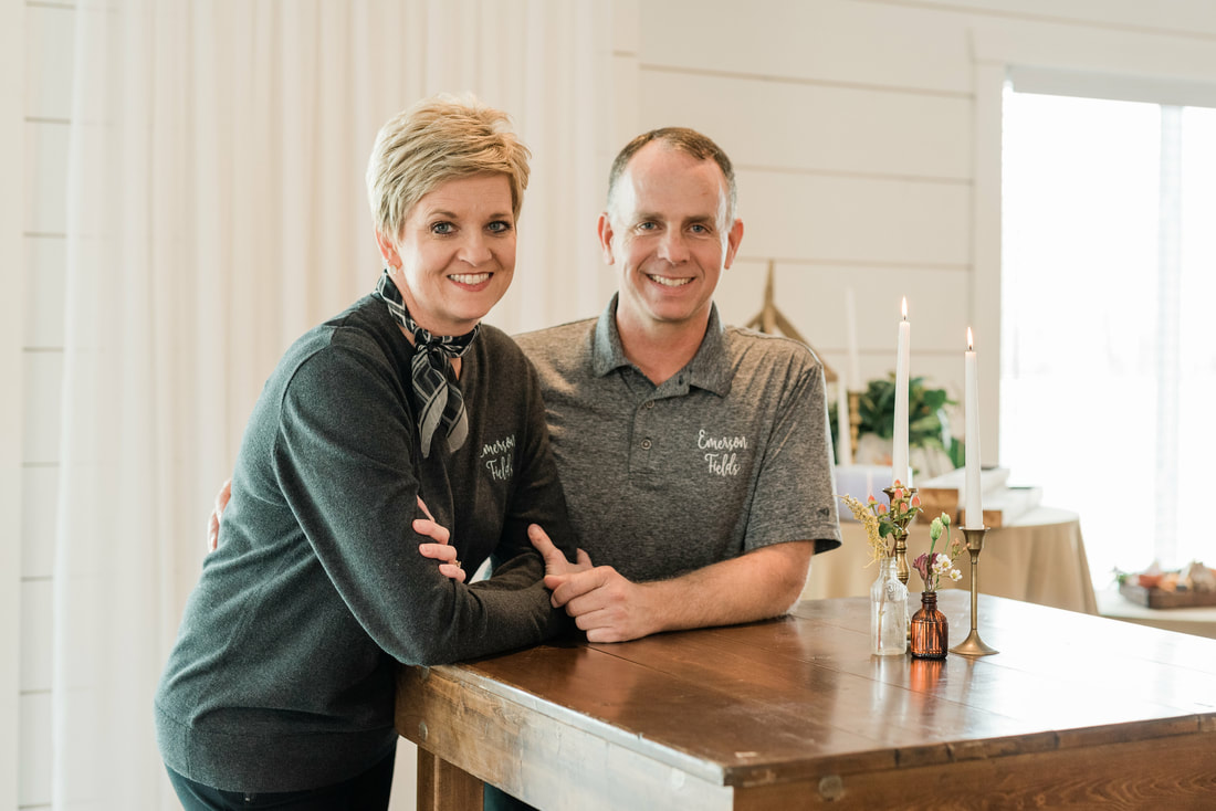 Steve and Amelia Holder, owners of Emerson Fields wedding venue in central Missouri