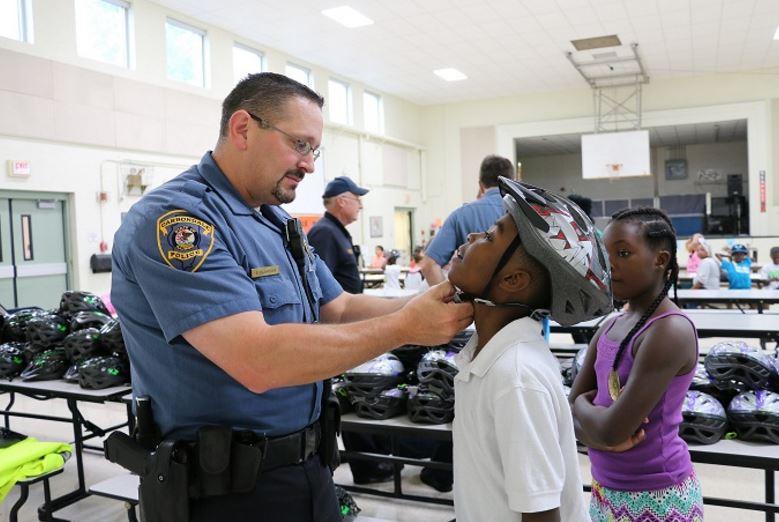 Carbondale Police-Helmet Program.JPG