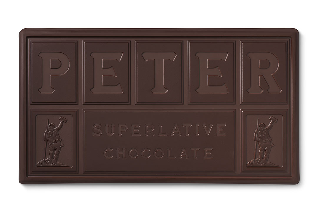 Peters Bar Chocolate - Sold in 10 lb bars or 1 lb chunks. We carry a variety of Peters Milk and Dark Chocolates, as well as a White Peters Chocolate.