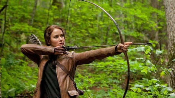 Katniss Everdene, from the Hunger Games.  AP Photo/Lionsgate