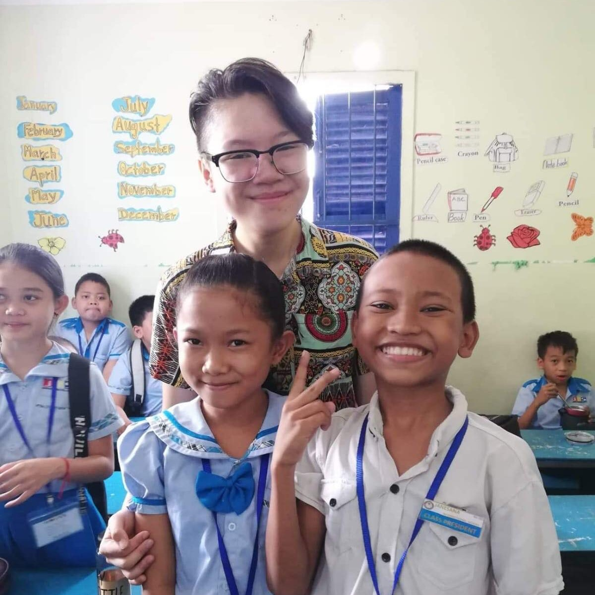 """catherin laurens-melbourne university - """"Maybe a year ago I wouldn't have thought I would be spending my summer break in a foreign country, no less teaching English! The friends I made along the way and the moments I get to experience made this without a doubt, the best way I could've spent my break.""""Global Volunteer to Cambodia 2019"""