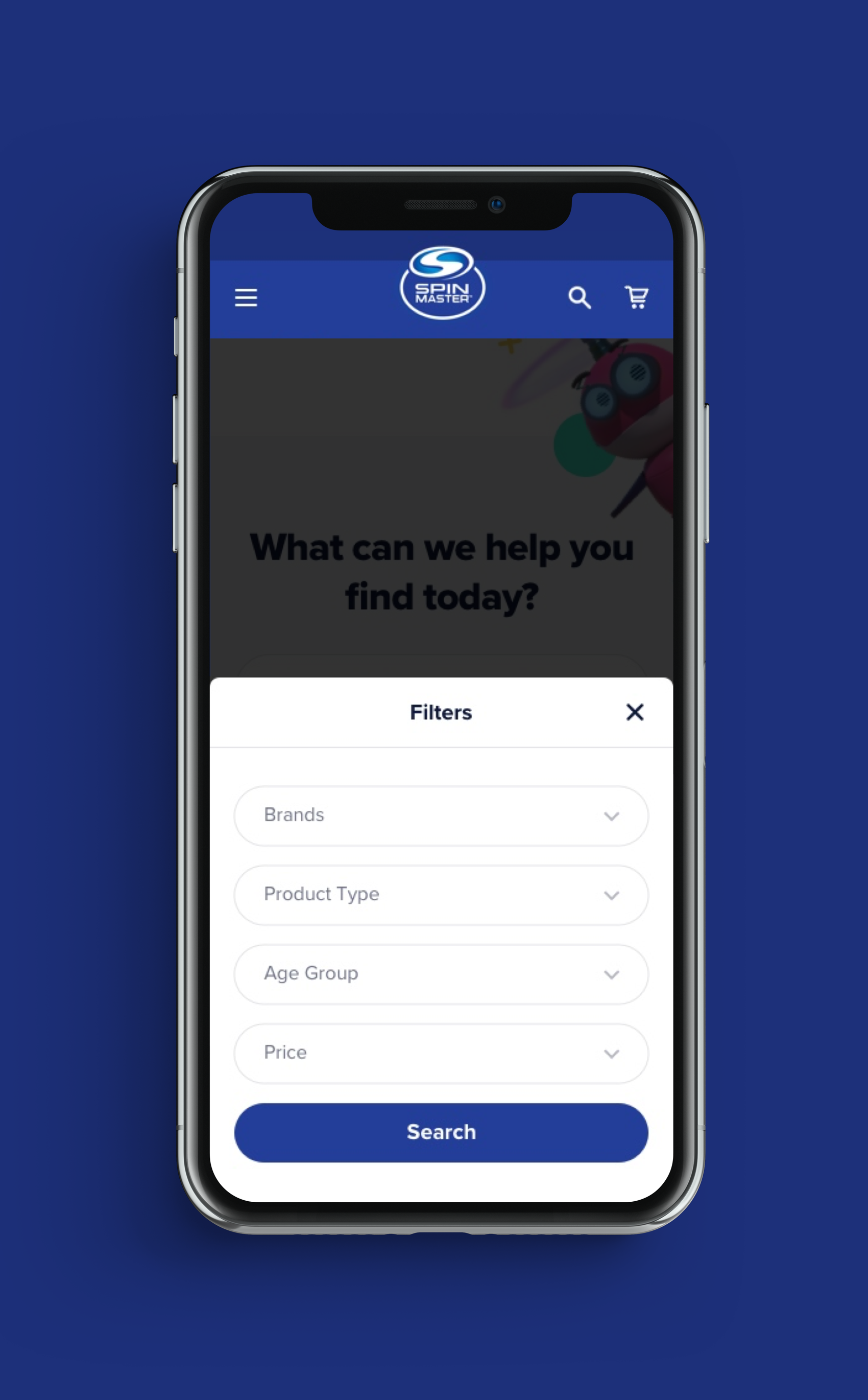 Spin Master Home Page Design - First Concept for Mobile5