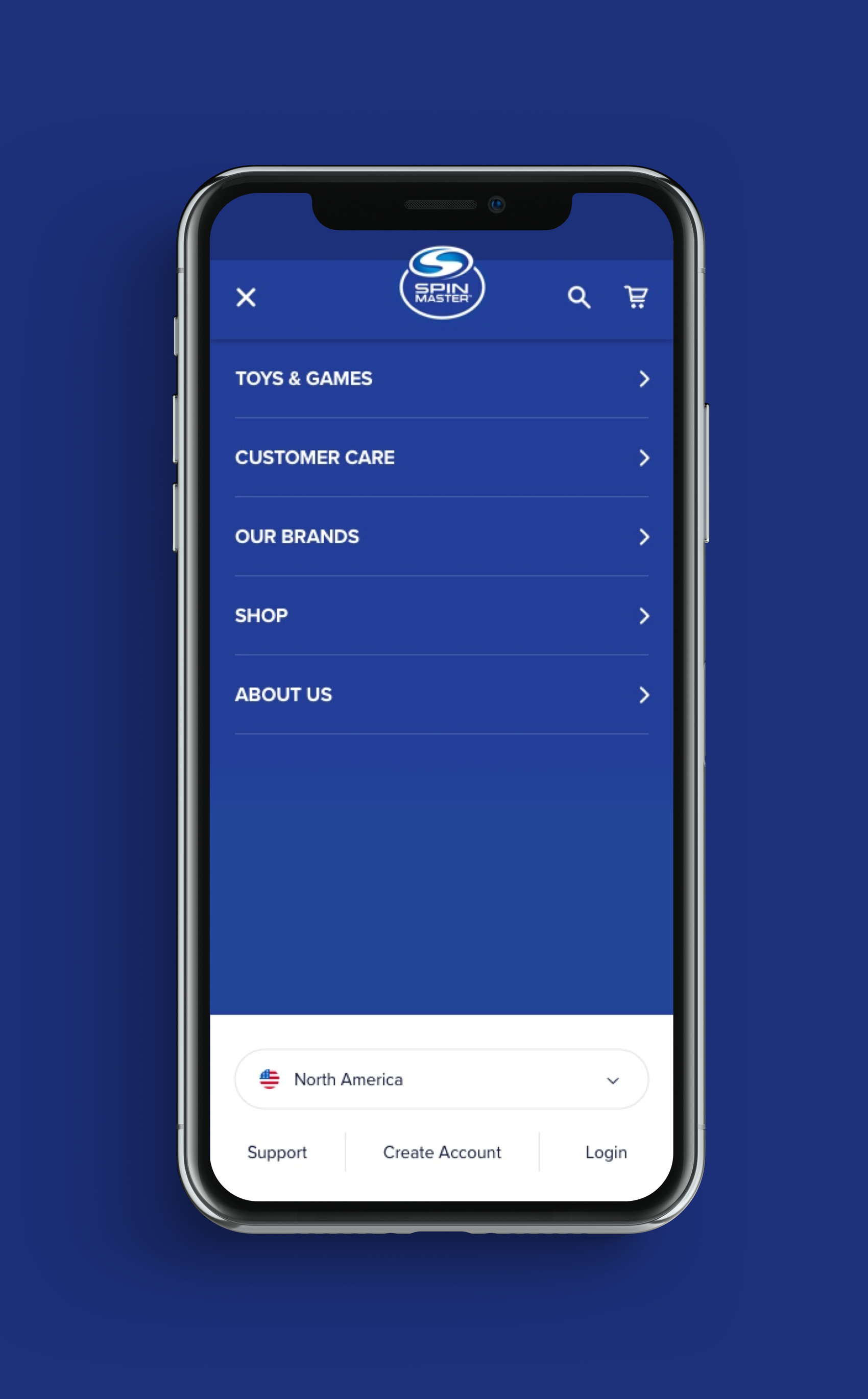 Spin Master Home Page Design - First Concept for Mobile6