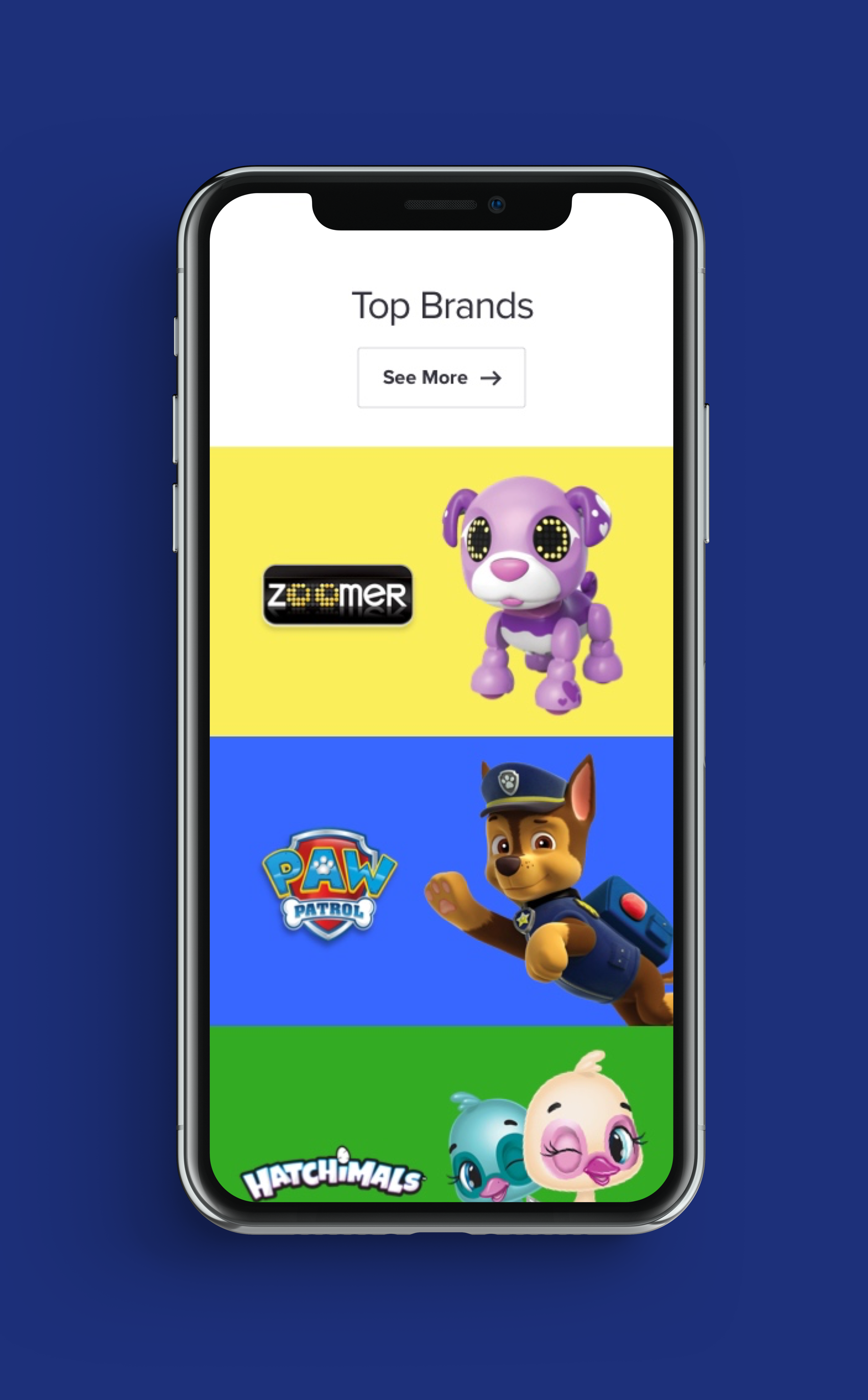 Spin Master Home Page Design - Second Concept for Mobile2