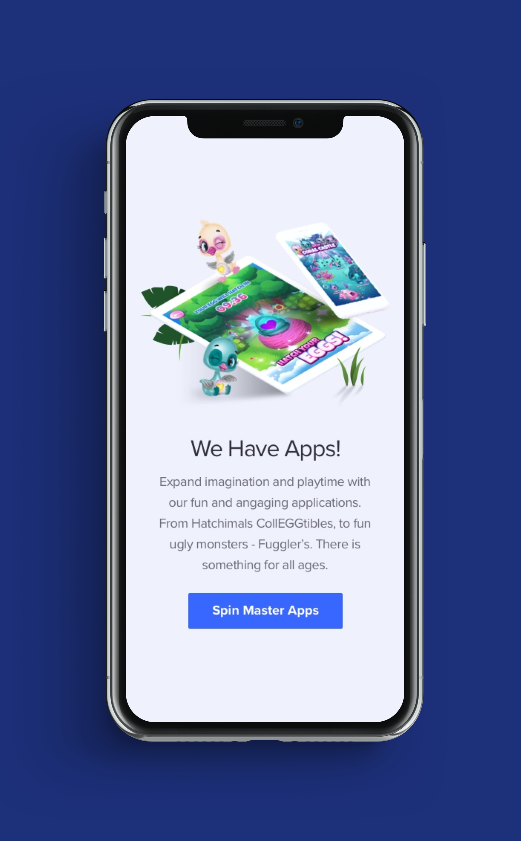 Spin Master Home Page Design - Second Concept for Mobile4