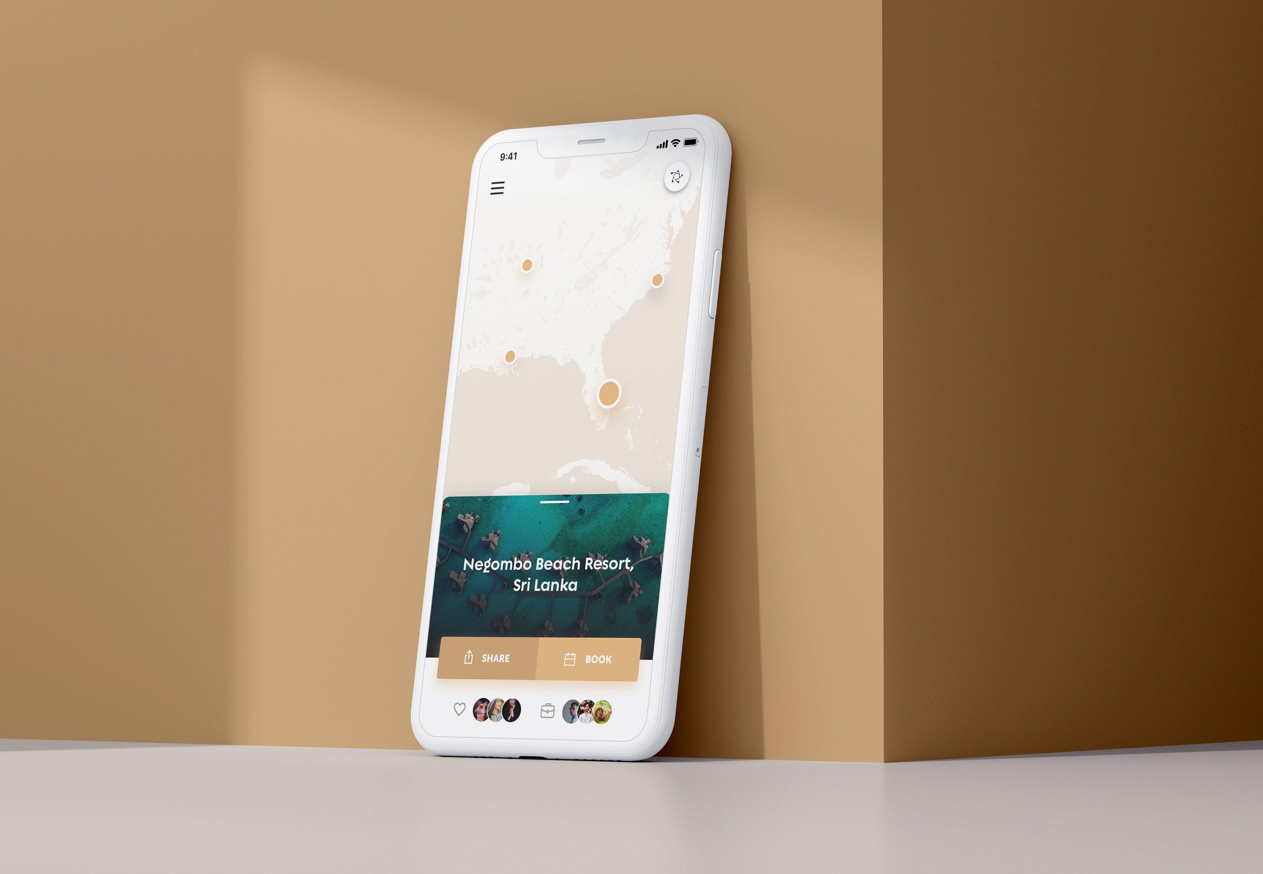 Legends iOS App UI Design – Travel Map