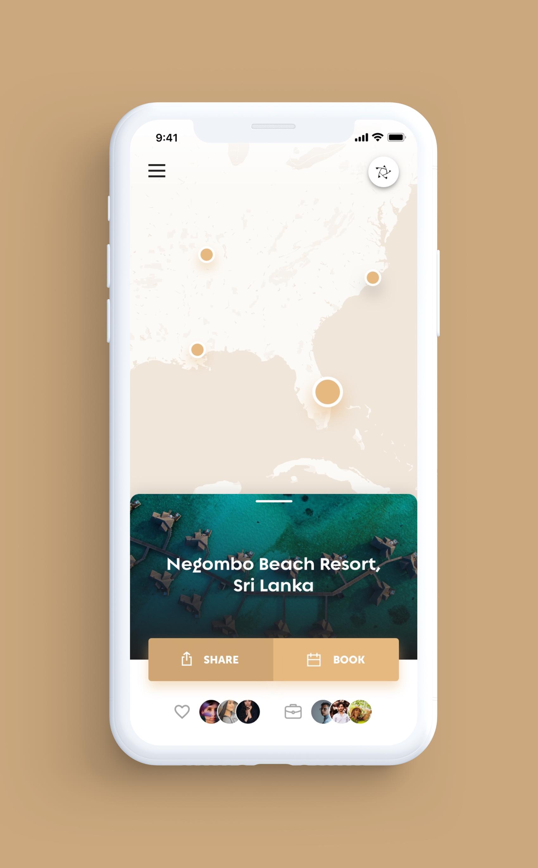Legends iOS App UI Design – Travel Map2