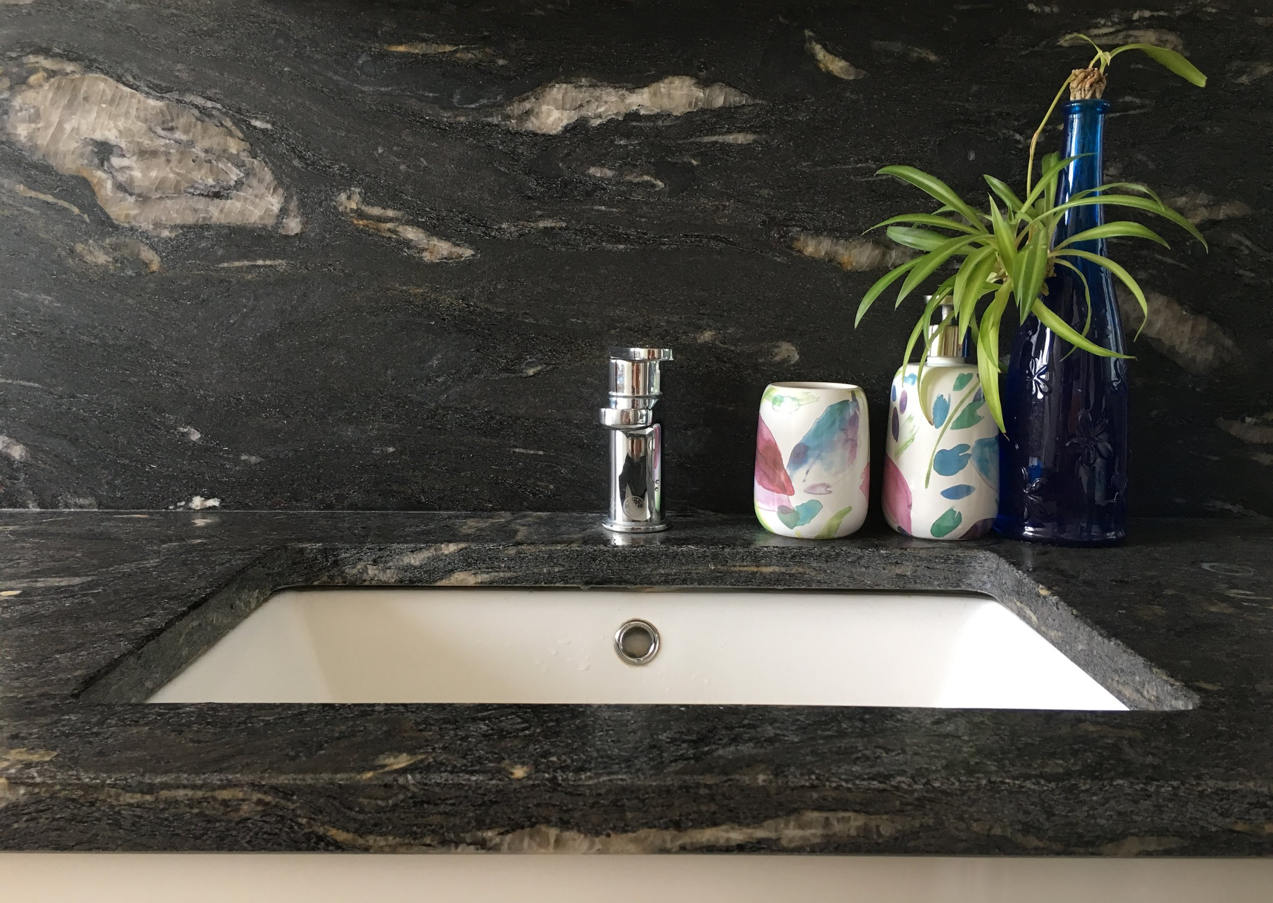 - We can help enhance your bathroom's look and class with our stone, whether it's for sinks or tiles.