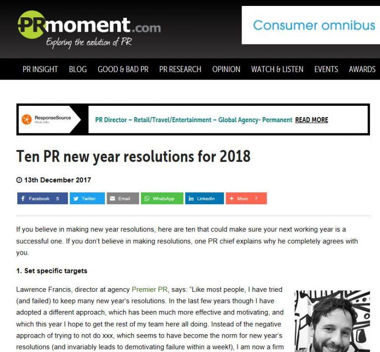 December 2017: PR Moment