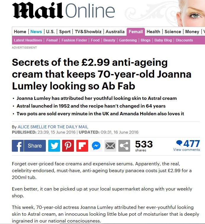 June 2016: The Daily Mail