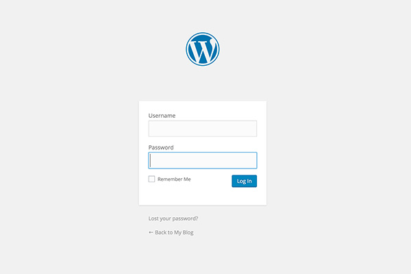 Self hosted WordPress login page