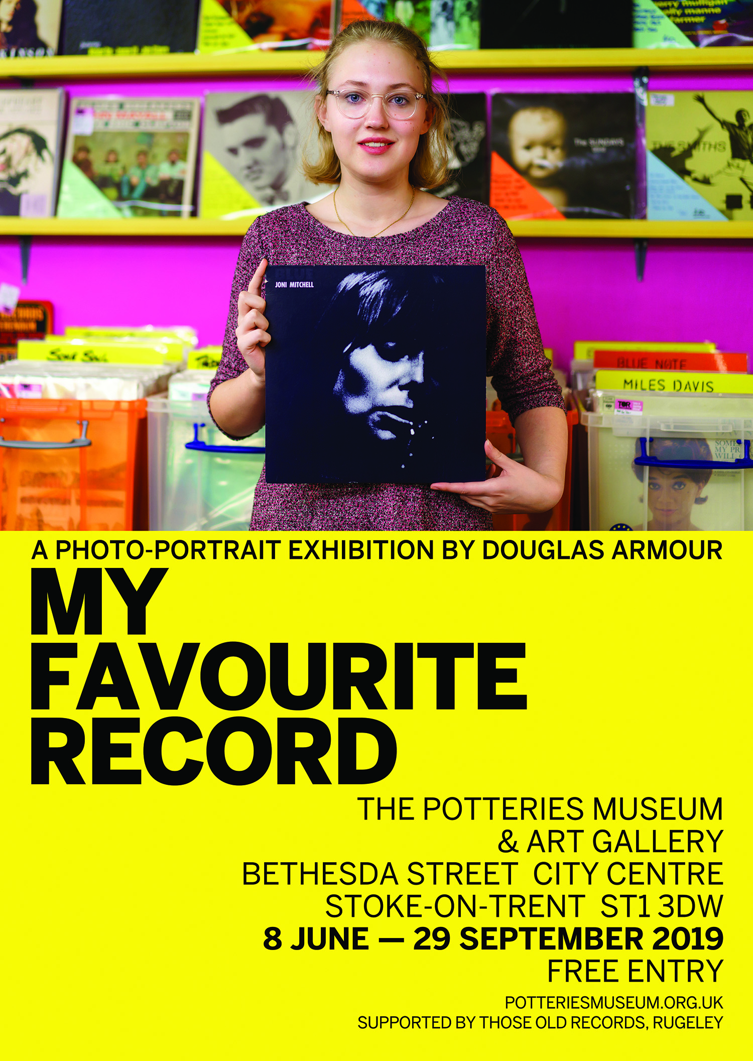 My Favourite Record exhibition poster