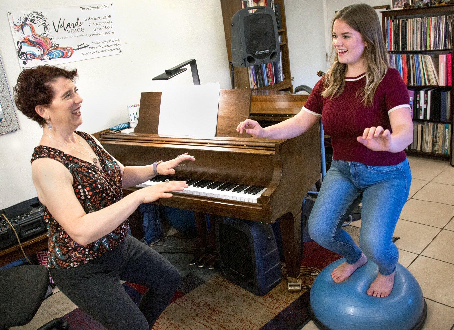 Explore your instrument with voice coach Rachel at Velarde Voice, Scottsdale, AZ