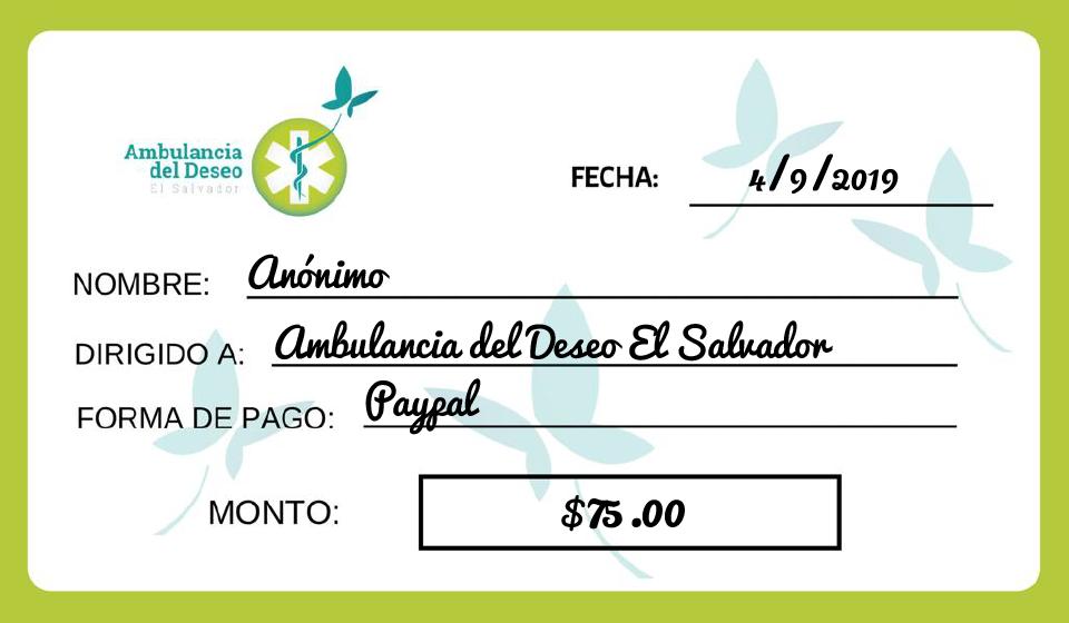 - El 4 de septiembre recibimos un donativo hecho con mucho amor, muchas gracias por confiar en nosotros para cumplir muchos deseos. 🦋